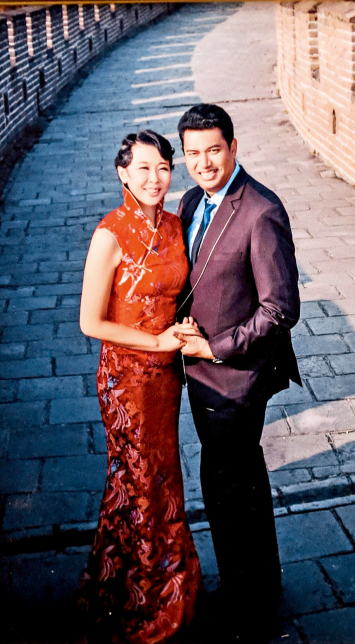 Cross-border love was consummated by the marriage between Kiattipong and Feng Kun.