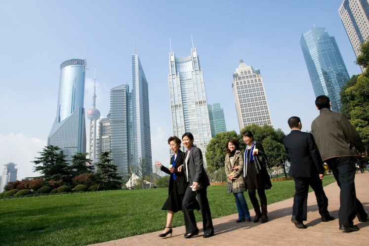 Luziaji business district in Shanghai