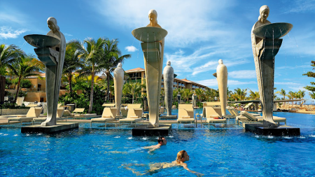 Inside a resort in Bali, Indonesia.