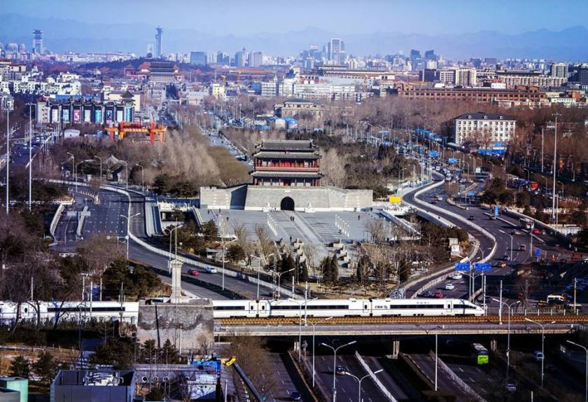 Yondingmen city gate CRH