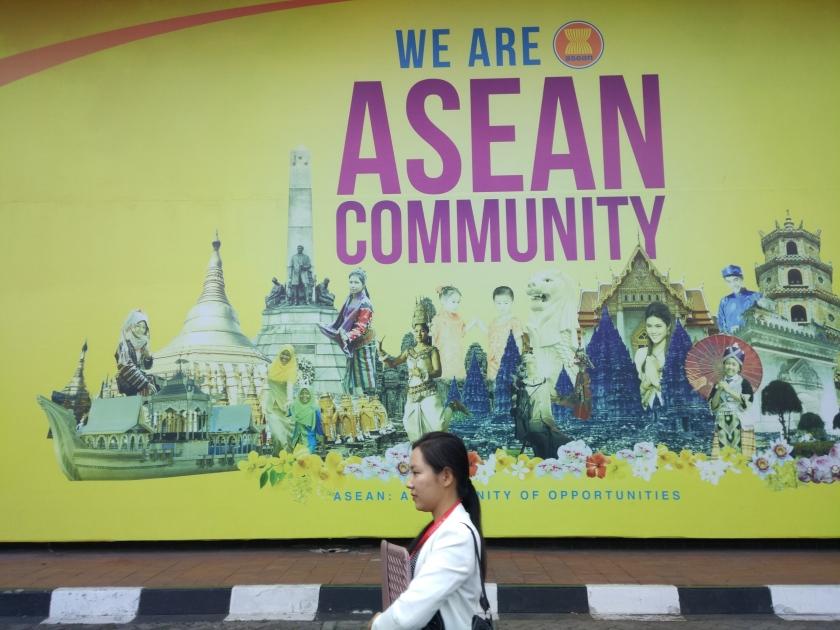 东盟是一个多元化的国际组织,各国在文化、语言、历史等领域各有不同。东盟秘书处设在印尼首都雅加达。(摄影 董彦)