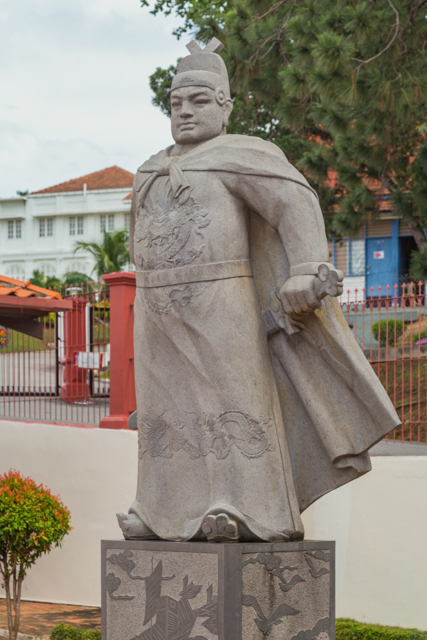 位于马六甲市的郑和像 维基百科